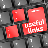 useful links keyboard button - business concept