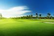 Leinwandbild Motiv golf course