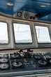 Wheelhouse in modern passengers ship.