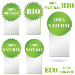 100% Organic, Natural or Bio badge on white