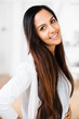 Beautiful Indian woman portrait happy smiling