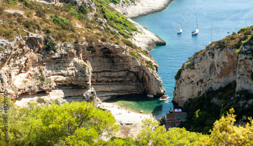 Stiniva bay in vis island
