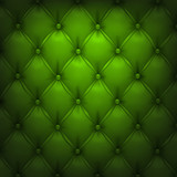 Green vector upholstery leather pattern background.