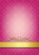 Abstract pink invitation