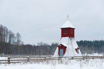 Kleine Kapelle bei Gårdveda, Småland, Schweden