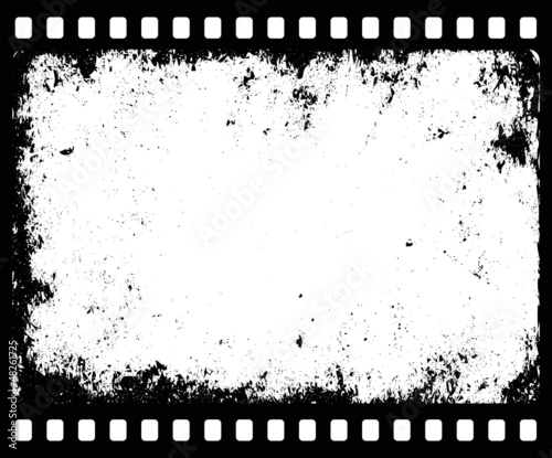 grunge filmstrip with transparent space insert for picture