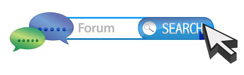 Web forum search