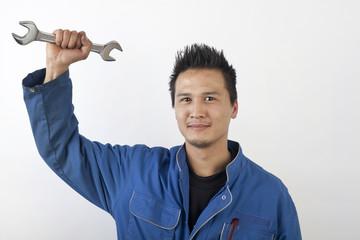 Young asian mechanic