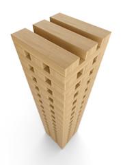 Turm aus Bauklötzen