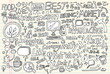 Internet Business Technology Doodle Vector Set