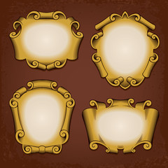 Vintage Frames Cartouches Scrolls