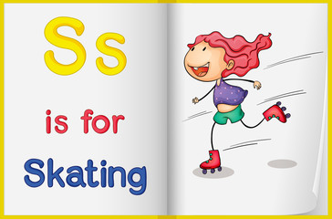 A picture of skating in a book