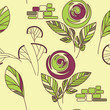 seamless vintage rose rose and fennel ornament pattern