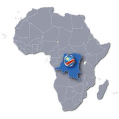 Afrikakarte Demokratische Republik Kongo
