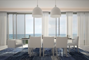 Dining Room / Kitchen with ocean / sea view