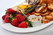 Strawberries and cheese platter