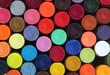 Colorful wax crayon pencils for school art
