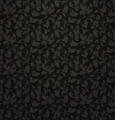Seamless pattern, black