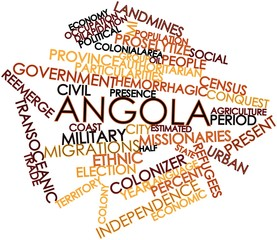 Word cloud for Angola
