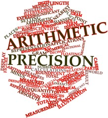 Word cloud for Arithmetic precision