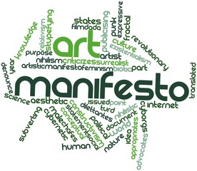 Word cloud for Art manifesto