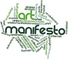 Word cloud for Art manifesto