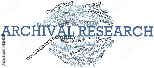Word cloud for Archival research