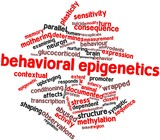 Word cloud for Behavioral epigenetics
