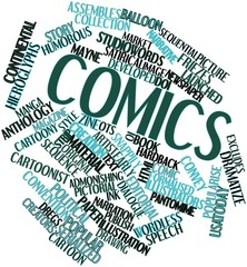 Word cloud for Comics