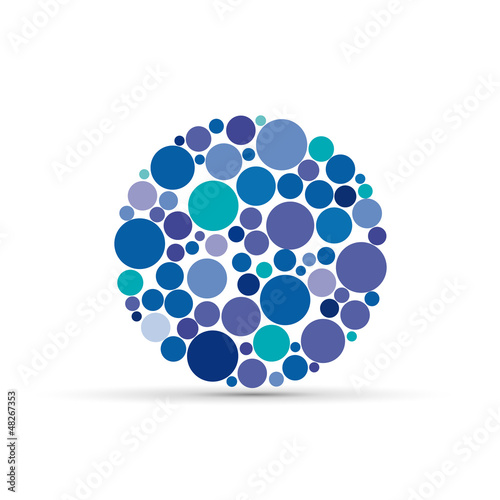 Blue circles Background # Vector