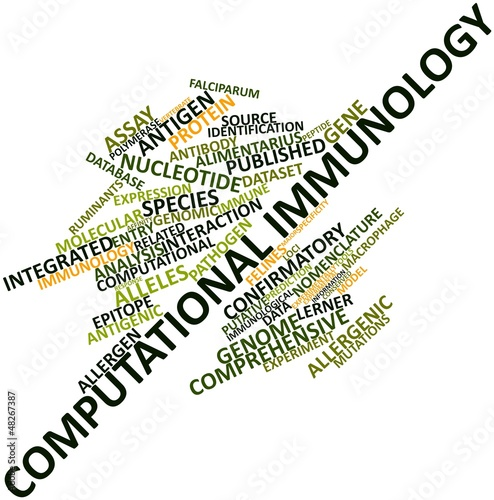 Word cloud for Computational immunology