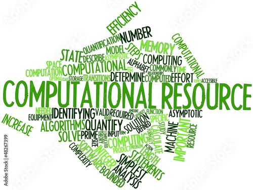 Word cloud for Computational resource