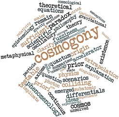Word cloud for Cosmogony
