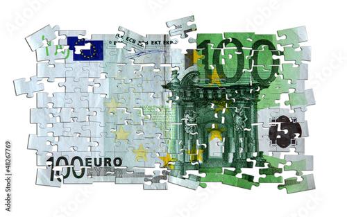 Geldscheinpuzzle