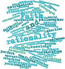 Word cloud for Faith and rationality