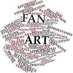 Word cloud for Fan art