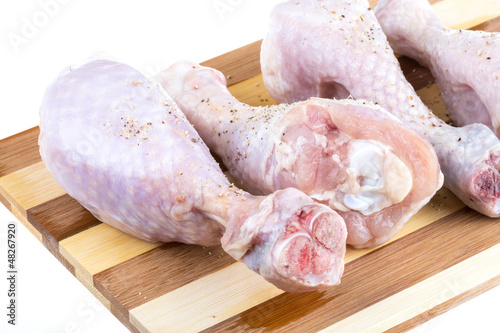 Close up of fresh raw chicken legs