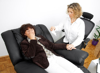 woman with psychiatrist