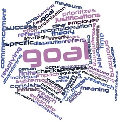 Word cloud for Goal
