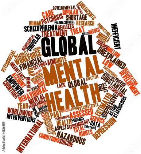 Word cloud for Global mental health