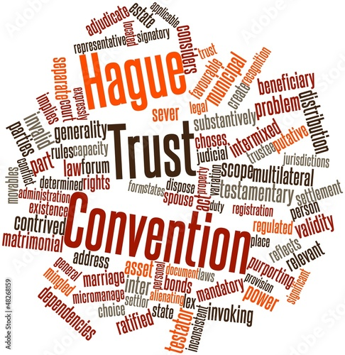 Word cloud for Hague Trust Convention