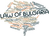 Word cloud for Law of Bulgaria
