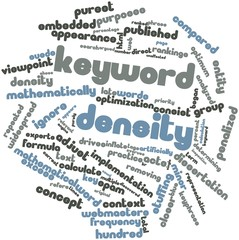 Word cloud for Keyword density