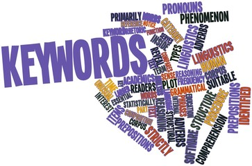 Word cloud for Keywords