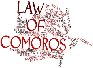 Word cloud for Law of Comoros