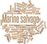 Word cloud for Marine salvage