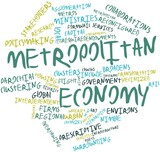 Word cloud for Metropolitan economy poster