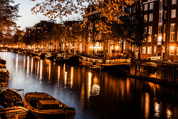 Amsterdam at night, The Netherlands