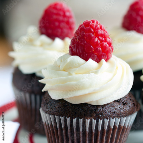 Raspberry chocolate cupcakes