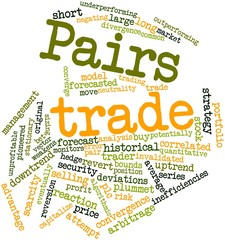 Word cloud for Pairs trade
